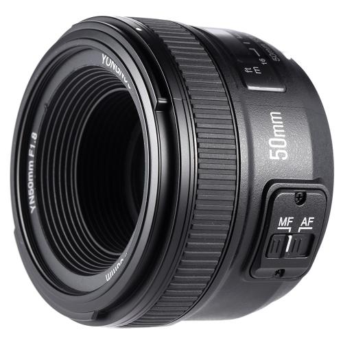 YONGNUO YN50mm F1.8 Gran apertura AF Auto Focus FX DX Full Frame lente para Nikon