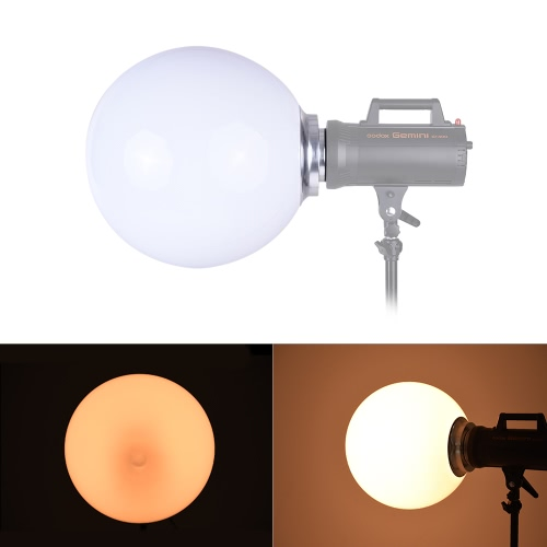 Spherical Diffuser Softball Photography Accessory for Strobe Studio Flash Light with Bowens Mount