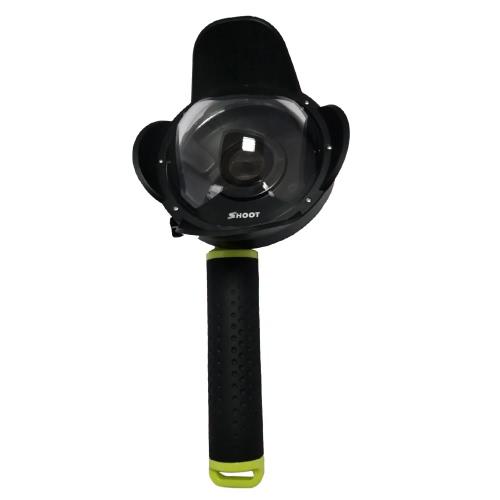 SCHIESSEN Tragbare Tauchen Fisheye Dome-Port Zubehör für Xiaomi Yi Tauchen Kamera Sport Action Cam Unterwasserfotografie Wasserdicht 40M mit Floaty Grip