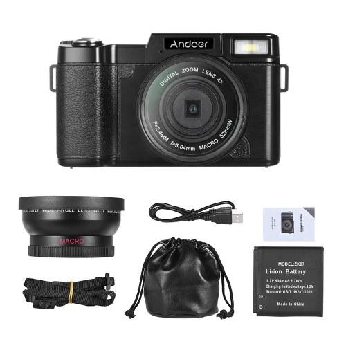 Andoer CDR2 1080P 15fps Full HD 24MP Digitalkamera
