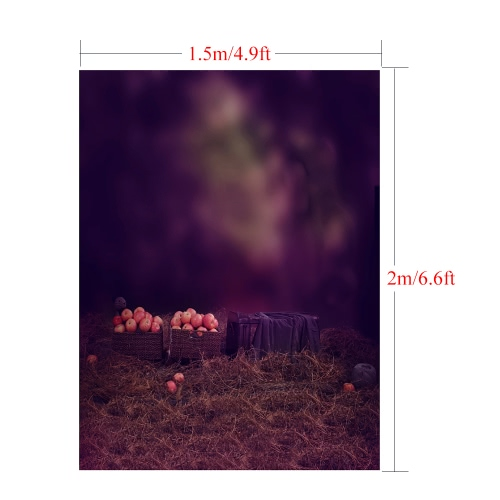 1.5 * 2m/4.9 * 6.5ft Photography Background Backdrop Computer Printed Apple Pattern for Children Kid Baby Newborn Pet Photo Studio Portrait Shooting, TOMTOP  - buy with discount