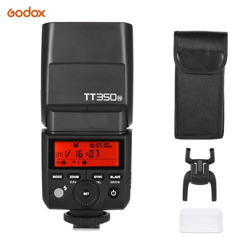 GODOX Thinklite TT350Nミニ2.4GワイヤレスTTLカメラのフラッシュマスター&スレーブストロボ1 / 8000Sハイスピードシンクロ。ニコン用のD800 D700 D7100 D7000 D5200 D5100 D5000 D300 D3200 D3000 D2000 D70S D810などカメラ