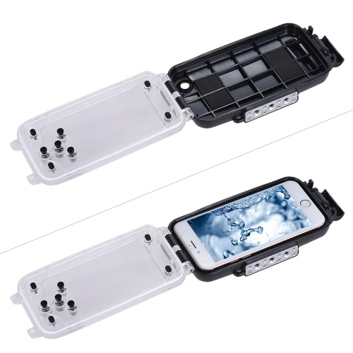 iPhoneのための携帯電話スマートフォン防水ダイビングハウジング保護ケースカバー水中40M / 130フィート6