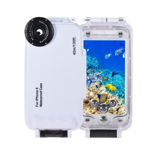 Smartphone Mobile Phone nurkowanie Wodoodporna obudowa ochronna pokrywa podwodne 40M / 130 ft dla iPhone 6