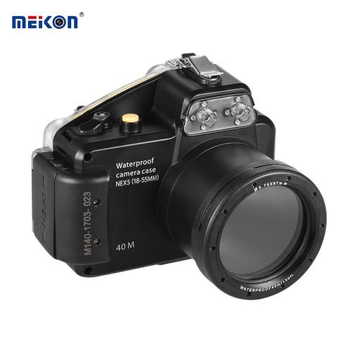 Caméra étanche Meikon plongée logement Housse de protection sous-marine 40m / 130ft pour Sony NEX-5 (18-55)
