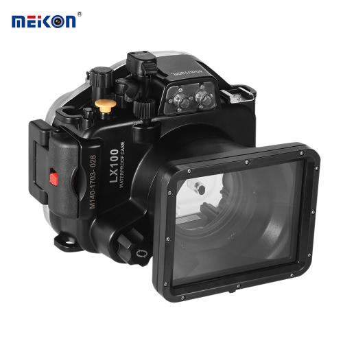 MEIKON Waterproof Camera Diving Housing Protective Case Cover Underwater 40m/ 130ft for Panasonic Lumix LX100