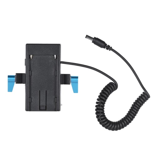 Andoer Camera Battery Mount Plate Power Supply Adapter with 15mm Rod Clamp for BMCC BMPCC for Sony F970 F950 Battery