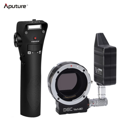 Aputure DEC Vari-ND Wireless Lens Remote Adapter with Electronic Vari-ND Filter ND8 to ND2048 for Canon EF-mount Lens to MFT(Micro 4/3) Mount Cameras