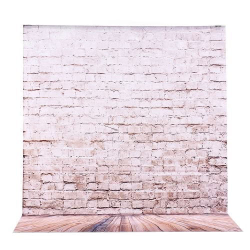 2 * 3m/6.6 * 9.8ft Large Photography Backdrop Background Brick Lamp Pattern for Baby Newborn Children Teen Adult Photo Video Studio