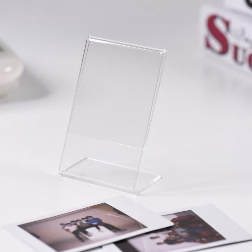 "Andoer 3"" L-shape Acrylic Photo Frame Transparent Mini Stand for Fujifilm Instax Mini 8 8+ 70 7s 90 25 26 50s 9 SP-1 SP-2 Film, 3-Pack D4719-1"