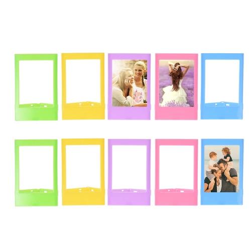 """Andoer 3 """"Mini marco de fotos de plástico para Fujifilm Instax mini 8 7s 90 25 50s 9 SP-1 SP-2 película, 10 paquetes, 5 colores"""