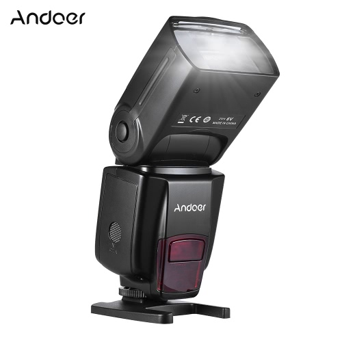 Andoer AD560 IV 2.4G Wireless Universal On-camera Slave Speedlite Flash Light GN50 LCD Display for Canon Nikon Olympus Pentax  for Sony A7/ A7 II/ A7S/ A7R/ A7S II  DSLR Cameras
