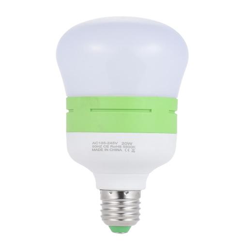 Oszczędność energii 20W E27 Świetlówka LED Lekka lampa 5500K Daylight 45pcs Koraliki do fotografii Pro Studio Wideo Domowe oświetlenie handlowe