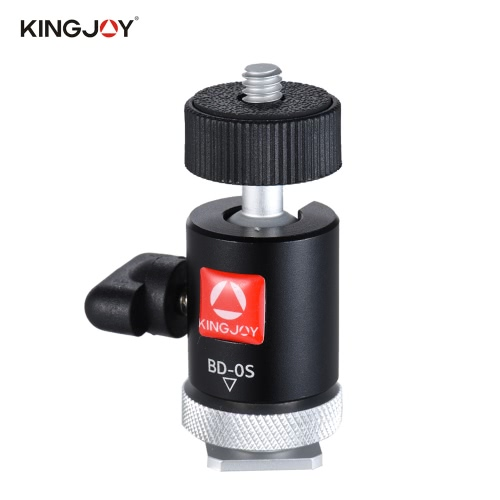 Kingjoy BD-0S Mini Ball Kopf Mount mit Hot Schuh Adapter für LED Licht Monitor Stativ DSLR Kamera Camcorder Video Studio Foto