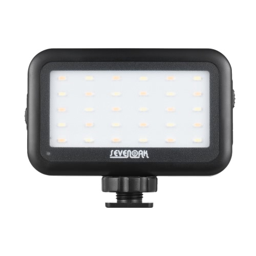 Sevenoak SK-PL30 Mini LED Video Light Dimmable Built-in Battery USB Rechargeable for iPhone 7 7plus 6 6plus for Samsung Huawei Smartphone Selfie for Canon Nikon Snoy DSLR Camera Camcorder