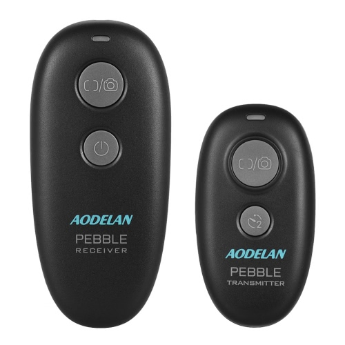 Aodelan PEBBLE 2.4GHz Wireless Remote Shutter Release Wireless Shutter Remote Performing Autofocus Single Shot Delayed Release Continuous Release with N8+2.5 Shutter Release Connecting Cable for Nikon D500 D5 D4S D4 D3S D3 D2 D1 D800 D810 D810A D800E D700 D300S D300 Cameras