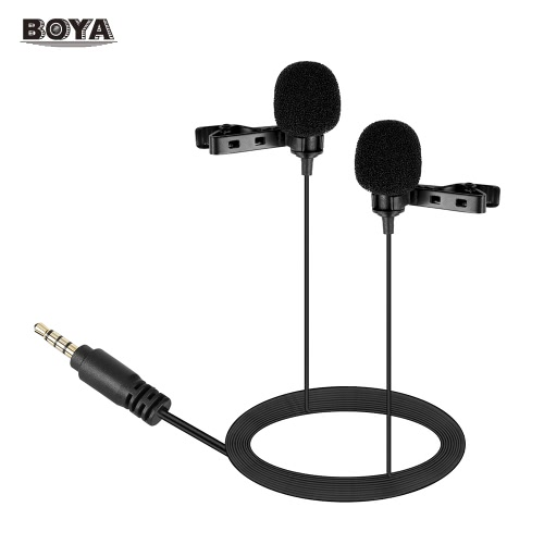 BOYA BY-LM400 Dual-head Lavalier Lapel Microphone