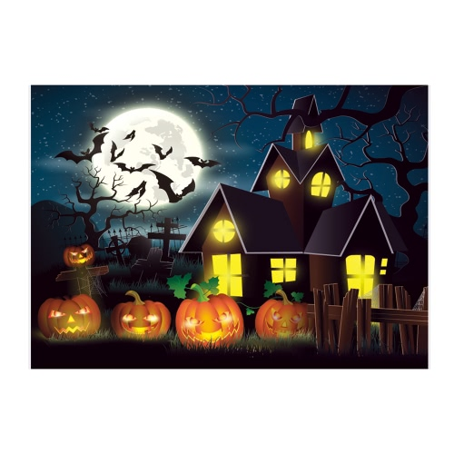 6.9 * 5ft/2.1 * 1.5m Halloween Backdrop Photography Background Decoration