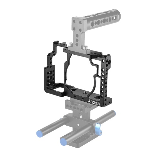 Andoer Aluminum Alloy Camera Cage + Top Handle + 15mm Rod Baseplate Kit