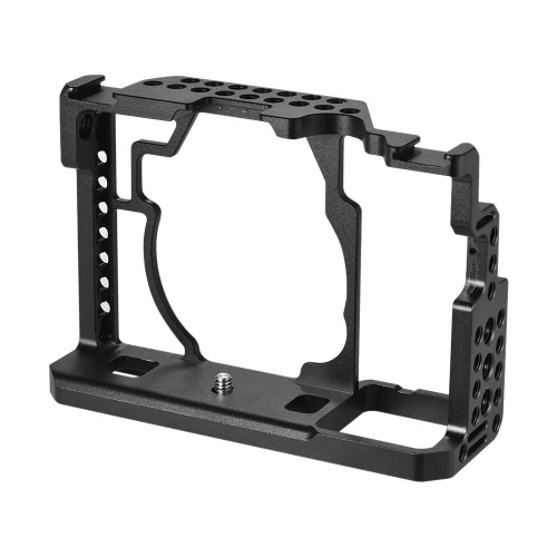 Andoer Alloy Alloy Camera Cage + Top Handle + 15mm Rod Baseplate Kit