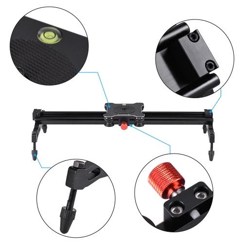 Andoer Portable Aluminum Alloy Camera Track Dolly Slider Stabilizer