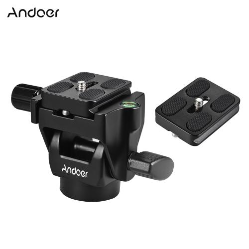 Andoer M-12 monopode tête inclinable tête panoramique téléobjectif avec 2pcs plaque de libération rapide