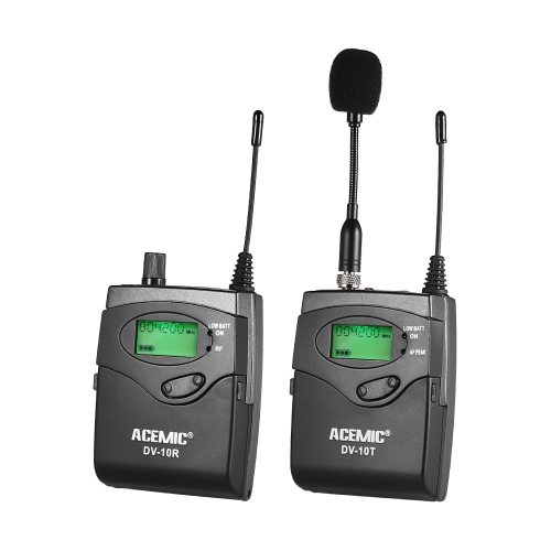 ACEMIC DV-10 UHF Wireless Transmitter Receiver Microphone