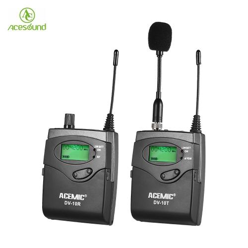 ACEMIC DV-10 UHF Transmisor Inalámbrico Receptor Micrófono