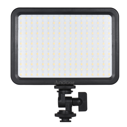 Andoer LED 204 luz de luz de luz de vídeo LED