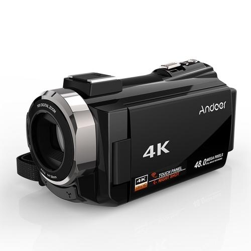 Andoer 4K 1080P 48MP Enregistreur vidéo numérique Caméscope Caméscope
