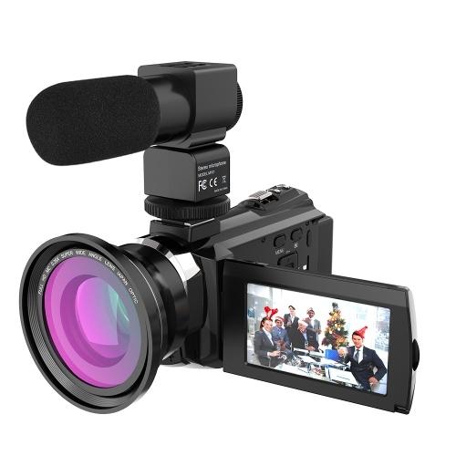 Andoer 4K 1080P 48MP WiFiデジタルビデオカメラビデオカメラレコーダー