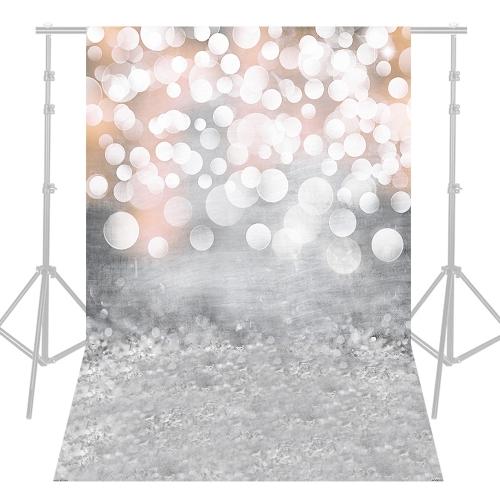 Andoer 1.5 * 2.1m / 5 * 7ft写真の背景キラキラ光Bokehスポット背景デジタルプリントフォトスタジオの小道具