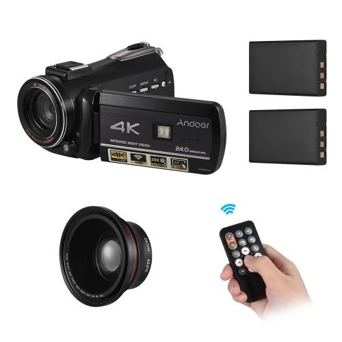 Caméra vidéo numérique Andoer AC3 4K UHD 24MP