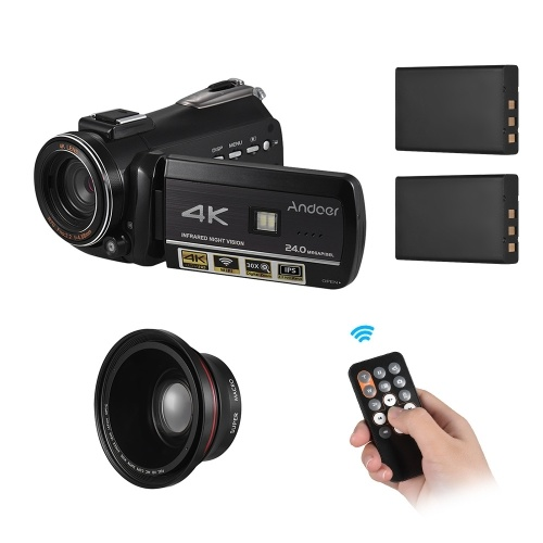 Andoer AC3 4K UHD 24MP Digital Video Camera