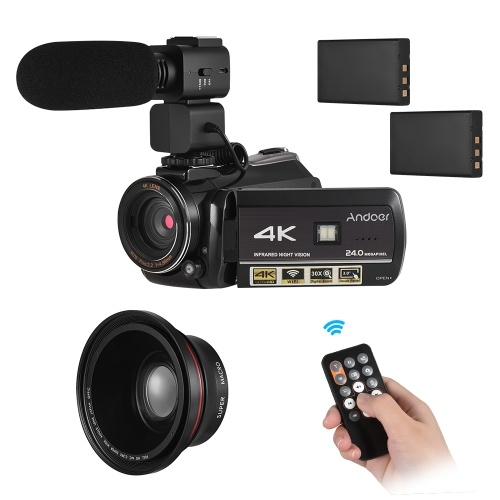 Andoer AC3 4K UHD Videocamera digitale 24MP