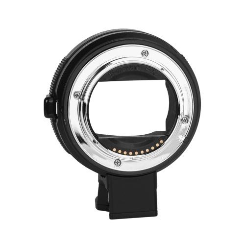 Anel de adaptador de montagem de lente de alta velocidade elétrico Commlite CM-EF-E HS