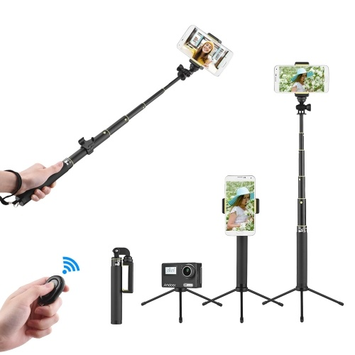 30inch Extendable Metal Selfie Stick Tripod Stand