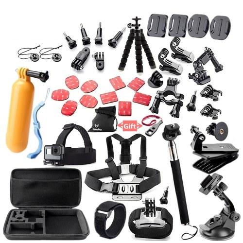 Accesorios de cámara 45 en 1 Herramientas de cámara para cámaras de fotografía al aire libre Herramienta de protección para Gopro Hero 5 4 3 2 1 Yi 4 k SJCAM SJ4000 SJ5000 SJ6000 SJ7000 EKEN H9R H8W