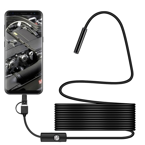 3 in 1 Waterproof USB Port Ear and Nose Endoscope 5.5mm Visual Lens Mini Camera Earpick Otoscope Endoscope Borescope