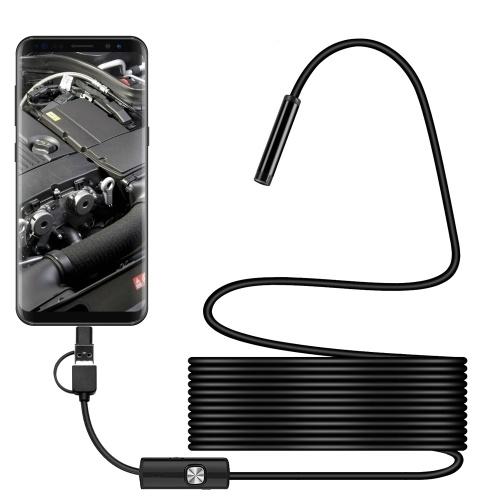 3 in 1 Waterproof USB Port Ear and Nose Endoscope 7mm Visual Lens Mini Camera Earpick Otoscope Endoscope Borescope