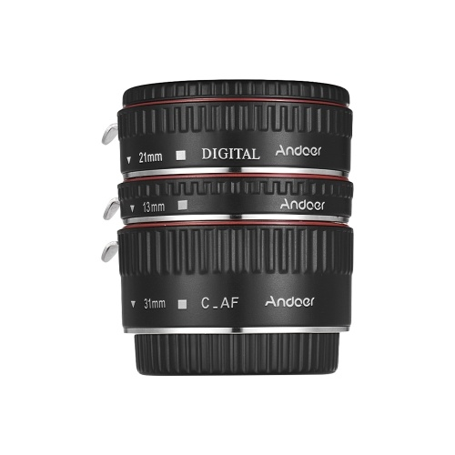 Andoer Brand New Upgraded Macro Extension Tube Set 3-Piece 13mm+21mm+31mm Auto Focus Extension Tube Rings for Canon EOS Camera Body and Lens of The 35mm SLR for Canon all EF and EF-S Lenses