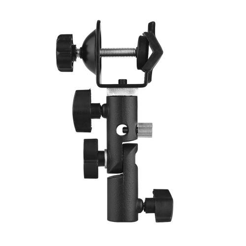 """Multifunktionale C-Clamp Clip Mount und Light Stand Mount Halterung mit Schirm Reflektor Halter und 1/4 """"bis 3/8"""" Innengewinde Adapter Gewinde für Fotografie Studio"""