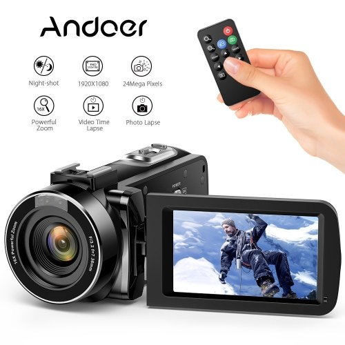Andoer Digital Video Camecorder FHD 1080P Video Camera Infrared Night  Vision 3 0
