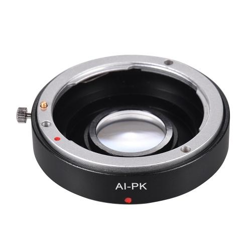 AI-PK Optical Glass Lens Mount Adapter with Corrective Lens for Nikon AI F Lens to Fit for Pentax K PK K110D K200D K20D K-3501 Camera