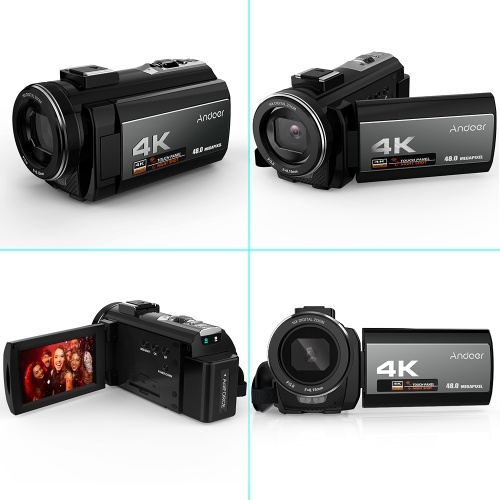 Andoer 4K Digital Video Camera Camcorder Ultra HD 48MP WiFi 3 0 Inch Touch  Screen IR Infrared Night-shot 16X Digital Zoom with 1pc 2500mAh