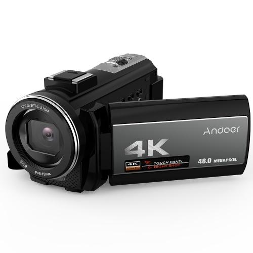 Videocámara digital con cámara 4K Andoer