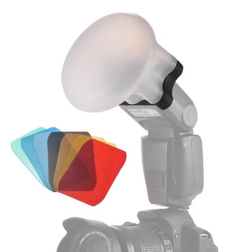 Difusor de silicone Bola Ímã Adsorção Bolas Macias para Canon Nikon Sigma Yongnuo Godox Andoer Neewer Vivitar Speedlight