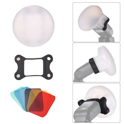 Силиконовый диффузионный шариковый магнит Адсорбционные мягкие шарики для Canon Nikon Sigma Yongnuo Godox Andoer Neewer Vivitar Speedlight фото