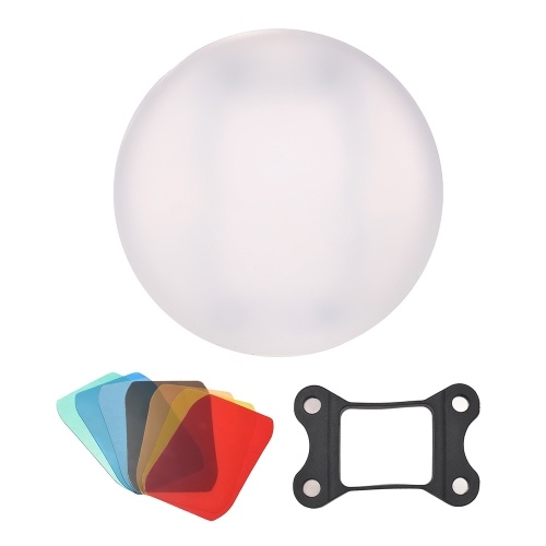 Andoer Silicone Diffuser Ball Magnet Adsorption Soft Balls for Canon Nikon Sigma Yongnuo Godox Andoer Neewer Vivitar Speedlight