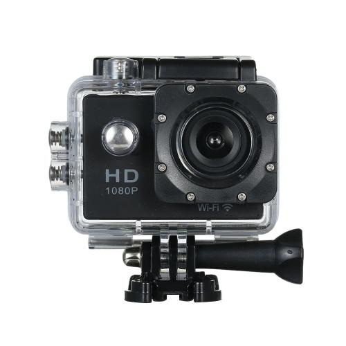 """720P Wifiスポーツアクションカメラ12M 2.0 """"スクリーン170度広角ビデオカメラ防水30M耐衝撃屋外ミニビデオカメラ車DVR(カメラ+防水ケース)"""
